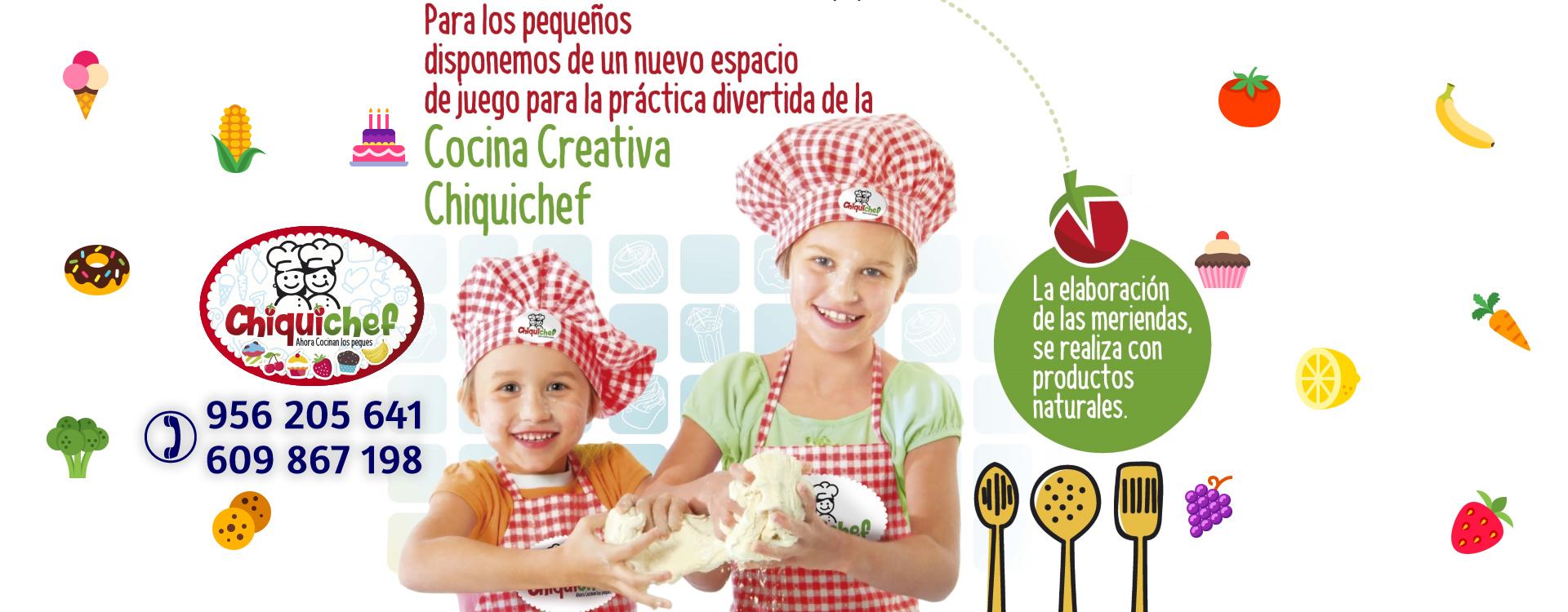 Cocina creativa para peques en Chiquichef Cádiz